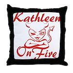 Kathleen On Fire Throw Pillow