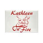 Kathleen On Fire Rectangle Magnet