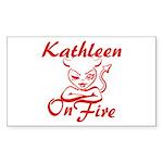 Kathleen On Fire Sticker (Rectangle)