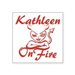 Kathleen On Fire Square Sticker 3