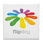 flop flop Tile Coaster