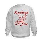 Kathryn On Fire Kids Sweatshirt