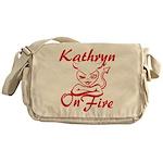 Kathryn On Fire Messenger Bag