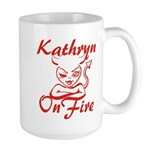 Kathryn On Fire Large Mug