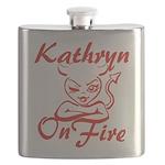 Kathryn On Fire Flask