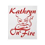 Kathryn On Fire Throw Blanket
