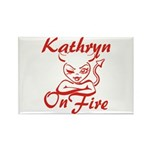 Kathryn On Fire Rectangle Magnet