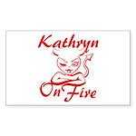 Kathryn On Fire Sticker (Rectangle)