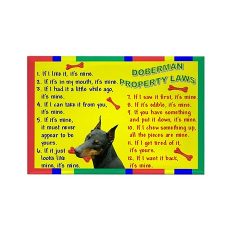 Doberman Property Laws Rectangle Magnet (10 pack)