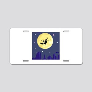 Witch Aluminum License Plate