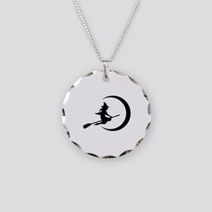 Witch Necklace Circle Charm