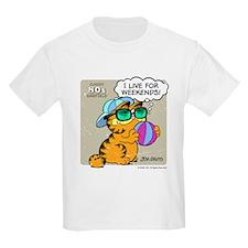 I Live For Weekends Kids Light T-Shirt