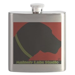 Black Lab Profile Flask