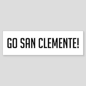 Go San Clemente Bumper Sticker