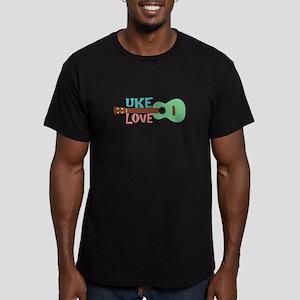 Uke Love Men's Fitted T-Shirt (dark)