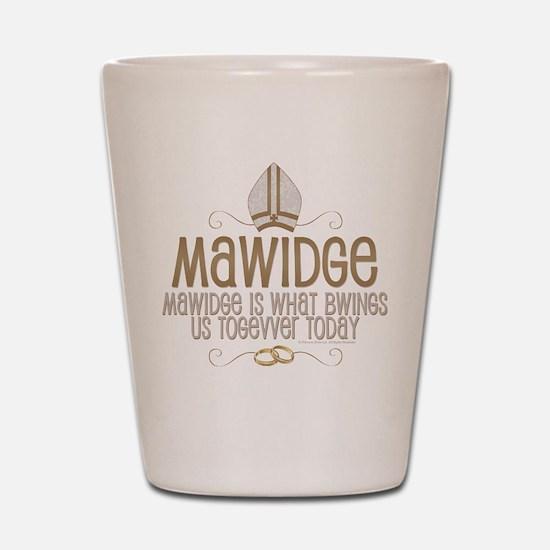 Princess Bride Mawidge Wedding Shot Glass