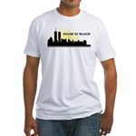 Imagine No Religion Twin Towers Fitted T-Shirt