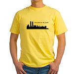 Imagine No Religion Twin Towers Yellow T-Shirt