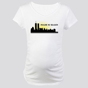 Imagine No Religion Twin Towers Maternity T-Shirt