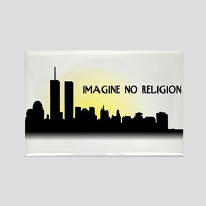 Imagine No Religion Twin Towers Rectangle Magnet