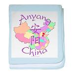 Anyang China Map baby blanket