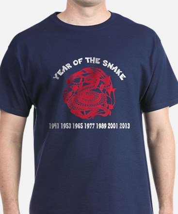 Chinese Paper Cut Year Of Snake T-Shirt