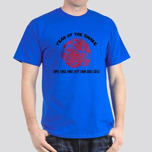 Chinese Paper Cut Year Of Snake Dark T-Shirt