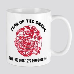 Chinese Paper Cut Year Of Snake Mug