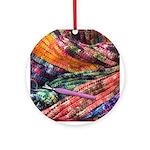 crochet afghan Round Ornament