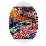 crochet afghan Oval Ornament