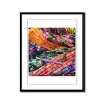 crochet afghan Framed Panel Print