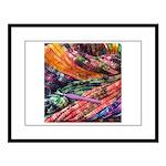 crochet afghan Large Framed Print