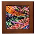 crochet afghan Framed Tile