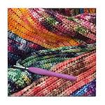 crochet afghan Tile Coaster