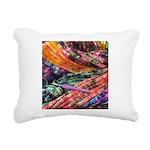 crochet afghan Rectangular Canvas Pillow