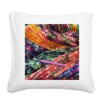 crochet afghan Square Canvas Pillow