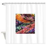 crochet afghan Shower Curtain