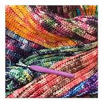 crochet afghan Square Car Magnet 3