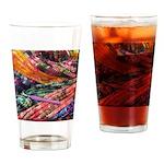 crochet afghan Drinking Glass