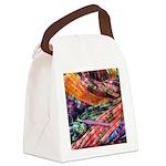 crochet afghan Canvas Lunch Bag