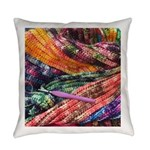 crochet afghan Everyday Pillow