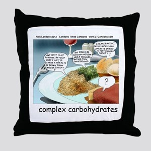 Way Too Complex Carbohydrates Throw Pillow