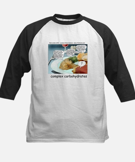 Way Too Complex Carbohydrates Kids Baseball Jersey