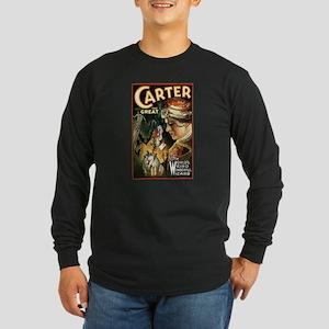 Vintage Magician Carter Long Sleeve Dark T-Shirt