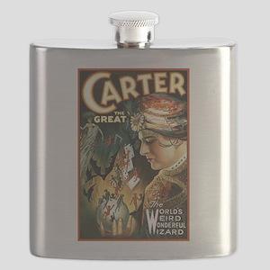 Vintage Magician Carter Flask
