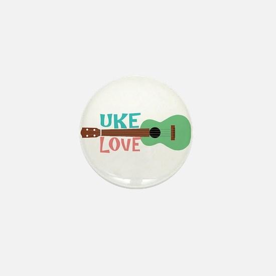 Uke Love Mini Button