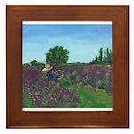 Lavender Days Framed Tile