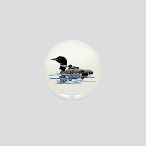 loon with babies Mini Button