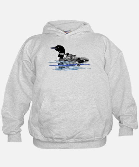 loon with babies Hoody