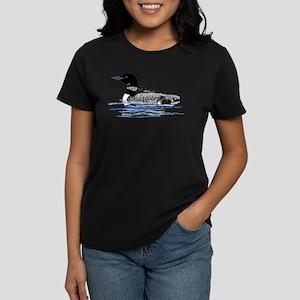 loon with babies Women's Dark T-Shirt